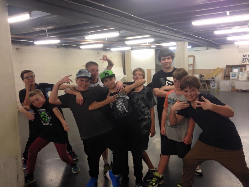 Boys group of dancers at a Hip Hop class located at CV Dance Studio in Bendigo