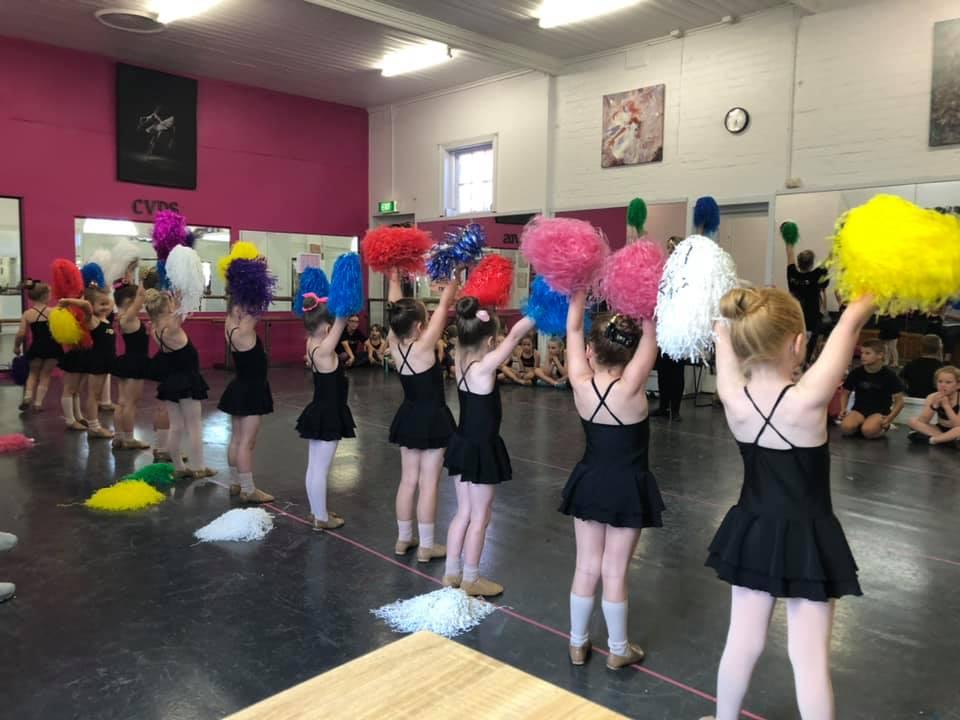 Girls group of dancers at a Jazz class located at CV Dance Studio in Bendigo