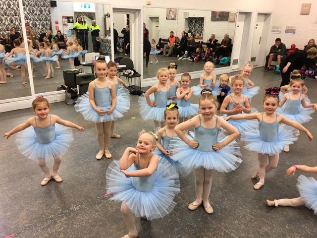 Girls group of dancers at a ballet class located at CV Dance Studio in Bendigo