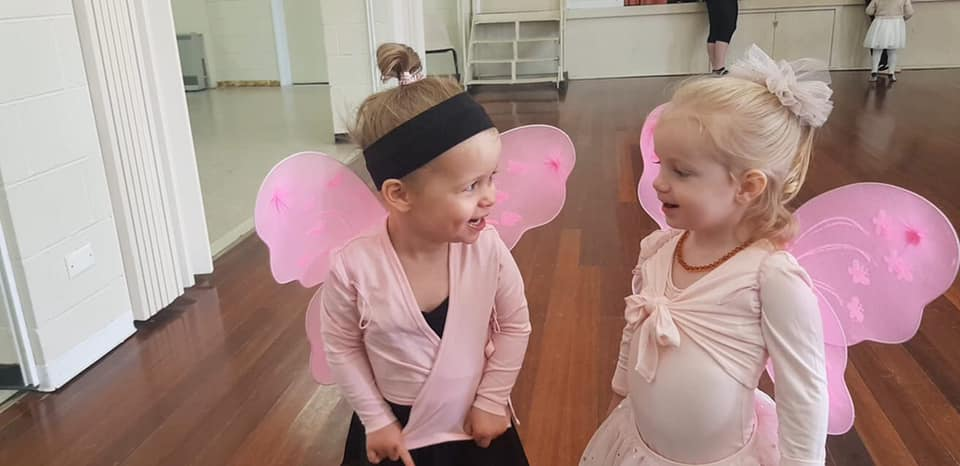 Girls group of dancers at a Fairy ballet class located at CV Dance Studio in Bendigo