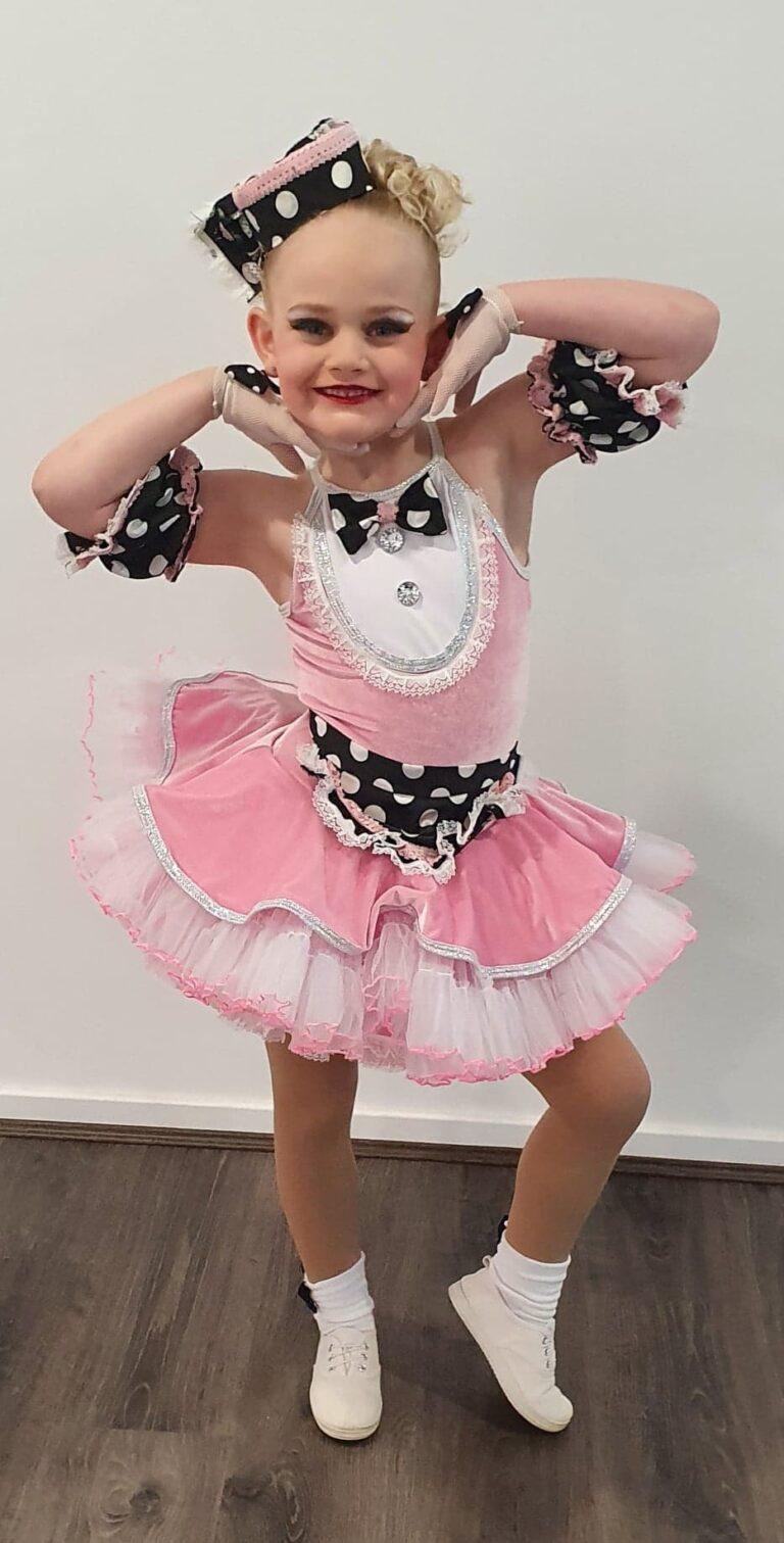 Girl dancer at a Musical theatre class located at CV Dance Studio in Bendigo